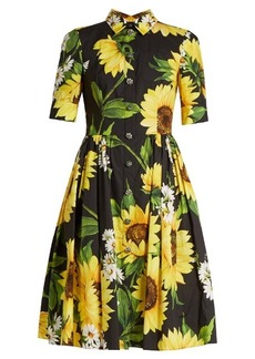 Dolce & Gabbana Sunflower-print cotton-poplin shirtdress