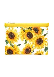 Dolce & Gabbana Sunflower-print technical pouch