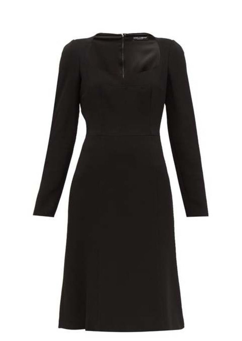 Dolce & Gabbana Sweetheart-neckline crepe dress