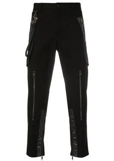 Dolce & Gabbana tape detail trousers - Black