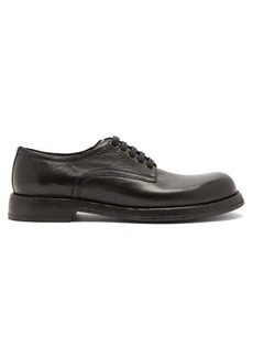 Dolce & Gabbana Textured-leather derby shoes