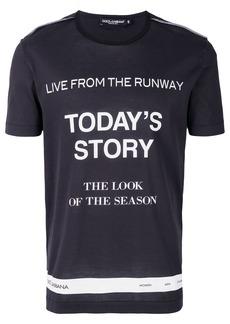 Dolce & Gabbana Today's Story T-shirt - Blue