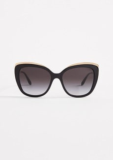 Dolce & Gabbana Top Fluted Sunglasses