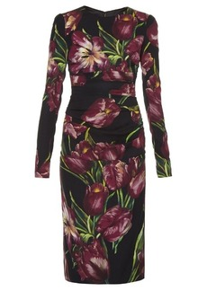 Dolce & Gabbana Tulip-print ruched dress