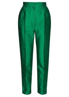 Dolce & Gabbana Turned-up cuff silk straight-leg trousers
