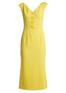 Dolce & Gabbana V-neck cady dress