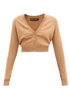 Dolce & Gabbana V-neck cropped cashmere cardigan