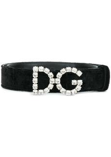 Dolce & Gabbana velor deigner logo belt