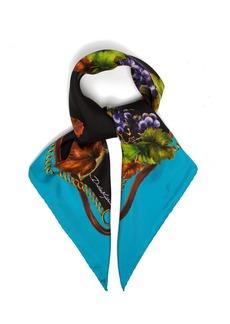 Dolce & Gabbana Vineyard-print silk-twill scarf