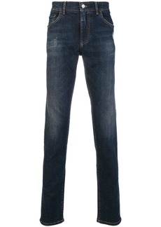 Dolce & Gabbana washed slim jeans - Blue