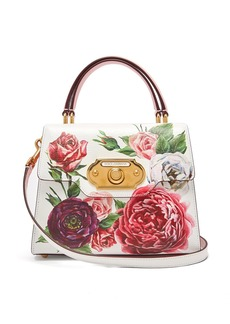 Dolce & Gabbana Welcome doorbell floral-print leather bag