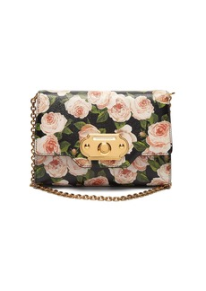 Dolce & Gabbana Floral-print Welcome Evening leather clutch