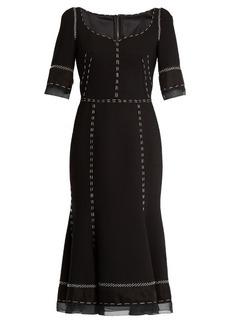 Dolce & Gabbana Whipstitched wool-blend cady dress