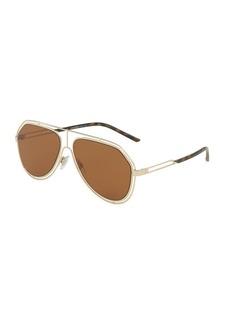 Dolce & Gabbana Wire-Rim Aviator Sunglasses