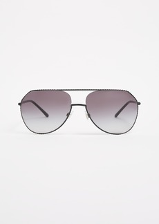 Dolce & Gabbana Wire Wrapped Aviator Sunglasses