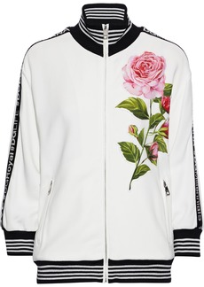 Dolce & Gabbana Woman Appliquéd Crepe Jacket White