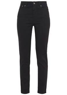 Dolce & Gabbana Woman Appliquéd High-rise Skinny Jeans Black