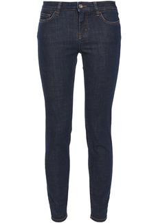 Dolce & Gabbana Woman Appliquéd Low-rise Skinny Jeans Dark Denim