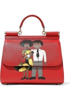 Dolce & Gabbana Woman Appliquéd Textured-leather Shoulder Bag Red