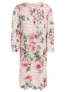 Dolce & Gabbana Woman Appliquéd Tulle Dress Pastel Pink