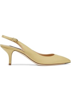Dolce & Gabbana Woman Bellucci Leather Slingback Pumps Pastel Yellow