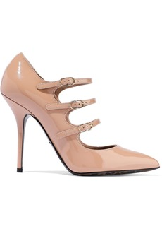Dolce & Gabbana Woman Buckled Patent-leather Pumps Blush