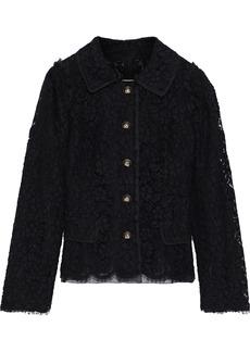 Dolce & Gabbana Woman Button-detailed Cotton-blend Corded Lace Jacket Black