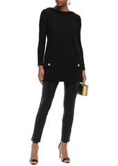 Dolce & Gabbana Woman Button-embellished Knitted Top Black