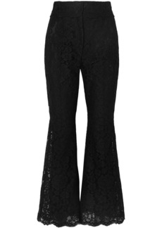 Dolce & Gabbana Woman Corded Lace Flared Pants Black