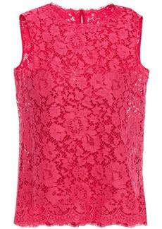 Dolce & Gabbana Woman Corded Lace Top Bubblegum