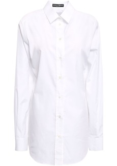 Dolce & Gabbana Woman Cotton-poplin Shirt White