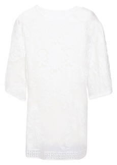 Dolce & Gabbana Woman Crocheted Cotton-blend Lace Top White