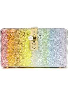 Dolce & Gabbana Woman Crystal-embellished Dégradé Satin Box Clutch Multicolor