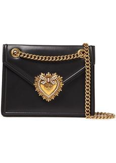 Dolce & Gabbana Woman Devotion Leather Shoulder Bag Black