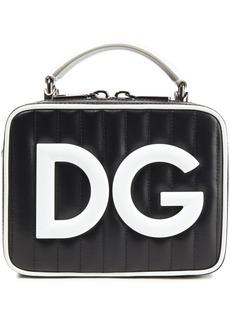 Dolce & Gabbana Woman Dg Girls Quilted Coated-canvas Shoulder Bag Black