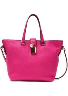 Dolce & Gabbana Woman Dolce Embellished Textured-leather Tote Fuchsia