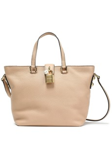Dolce & Gabbana Woman Dolce Small Pebbled-leather Tote Beige