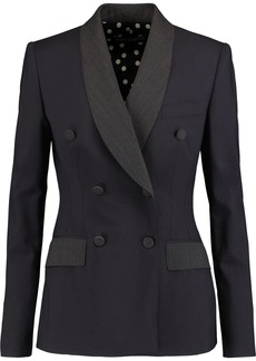Dolce & Gabbana Woman Double-breasted Wool-blend Jacket Midnight Blue