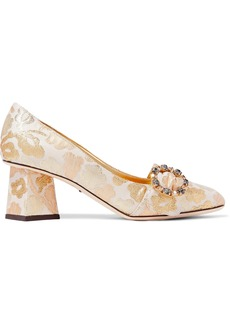 Dolce & Gabbana Woman Embellished Brocade Pumps Gold