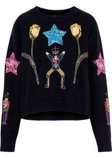 Dolce & Gabbana Woman Embellished Cashmere Sweater Black