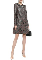 Dolce & Gabbana Woman Embellished Metallic Jacquard Mini Dress Antique Rose