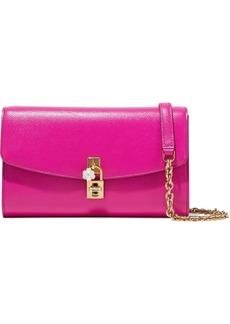 Dolce & Gabbana Woman Embellished Textured-leather Shoulder Bag Magenta