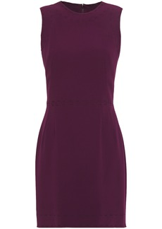 Dolce & Gabbana Woman Embroidered Stretch-crepe Mini Dress Burgundy