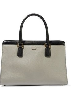 Dolce & Gabbana Woman Eva Color-block Textured-leather Tote Stone