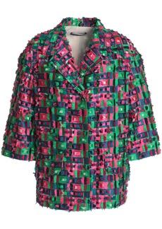 Dolce & Gabbana Woman Fil Coupé Jacket Green
