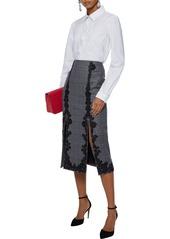 Dolce & Gabbana Woman Fil Coupé Cotton Shirt White