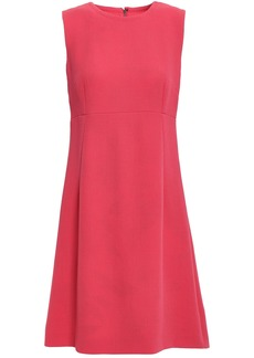 Dolce & Gabbana Woman Flared Wool-crepe Mini Dress Coral