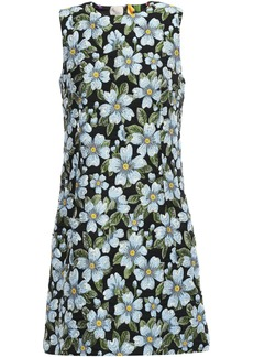 Dolce & Gabbana Woman Floral-jacquard Mini Dress Black