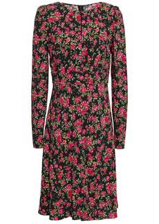 Dolce & Gabbana Woman Floral-print Crepe Dress Black