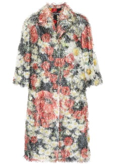 Dolce & Gabbana Woman Floral-print Fil Coupé Coat Red